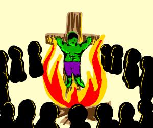 the hulk burns