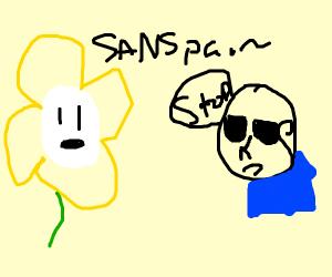 flowey calls sans a sanspai (senpai)