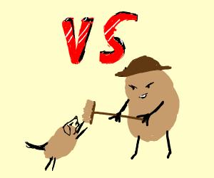 Potato dog VS potato man