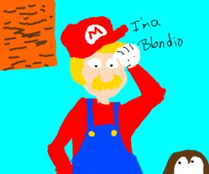 a blonde mario from mario bros