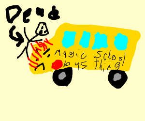 magic school bus lookin thing commit homicide