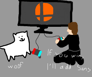 Toby Fox and Sakurai playing SSBU