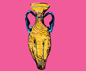 Yellow amphora (greek vase)
