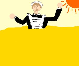 Maid sinking into Quicksand