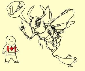 Beelzebub gives Canadian man 1 wish