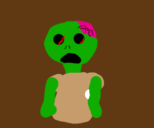 A zombie with no eyes