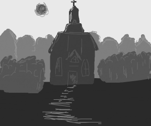 Old gray church