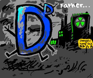 A D budding off another Drawception D