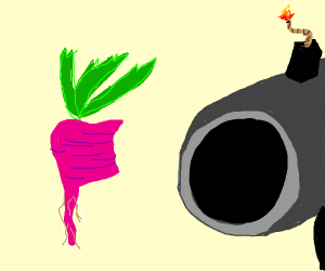 Eating a Radish with a Cannon