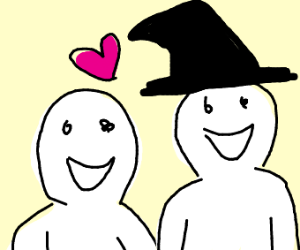 Man and his witch girlfriend!