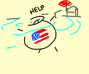 America drowning