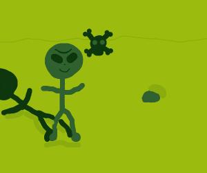 a toxic alien