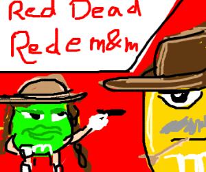 A cowboy M&M