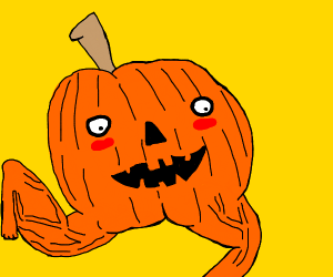 Pumpkin with Legs