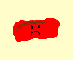 sad dried ketchup
