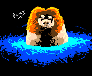 water pig lion thingy