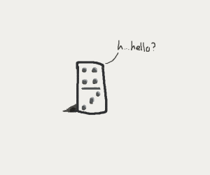 a lonely domino