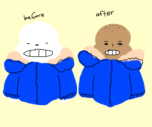 Sans with skin