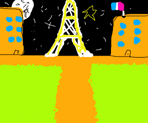Hon hon Eiffel Tower at night oui oui