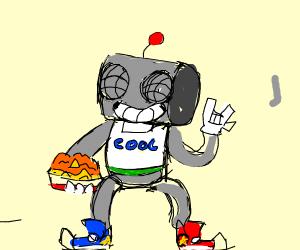 robot eats nachos