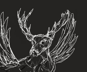 Deer with wings