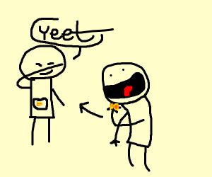guy yeets goldfish