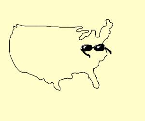 Eastern US wears shades
