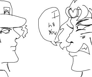 a verbal battle between dio and jotaro