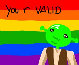 Shrek supporting gay pride