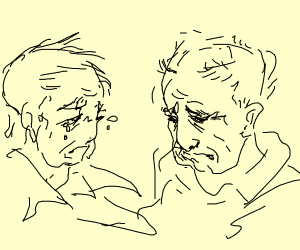 Two sad old men