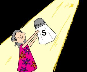 grandma and her salt