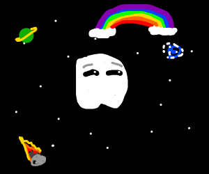phantom of the opera surprised space rainbow