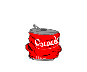 Crushed coke can