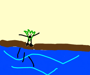 A Weed jumping over a River