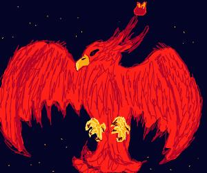 A fiery phoenix