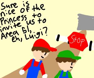 Mario and Luigi go to Area 51