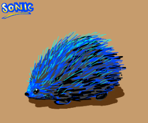 Sonic is a real life hedgehog