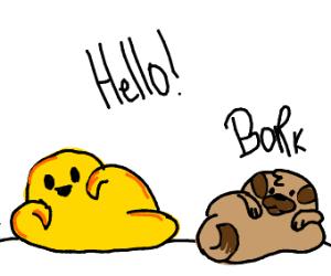 yellow blob / melty doggo