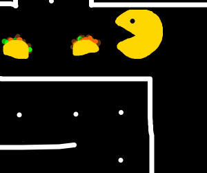 Pacman eating Taco's