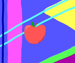 an apple with abstract background