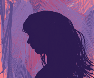 Woman silhouette Sideview
