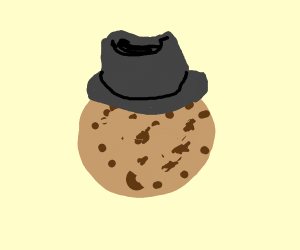 A Cookie Wearing A Fedora