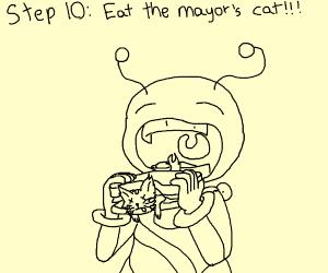 Step 9: terrorize a village