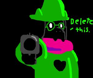 Ralsei has a gun!