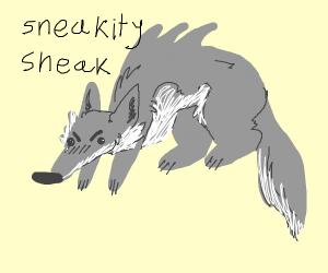 Big Bad Wolf Sneaking
