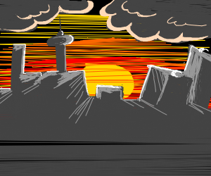 cool sunset city thing