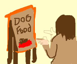 Step 4: Become BFFs with dog food ghost