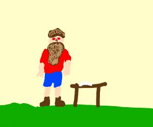 Man on Crack has a big beard