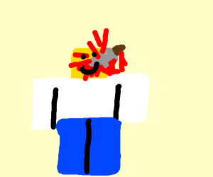 Roblox guy stabbed in head