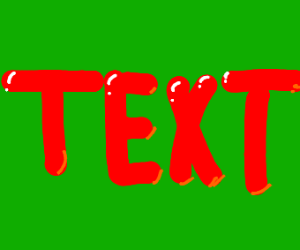 Text on screen